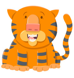 Tiger cartoon animal character vector