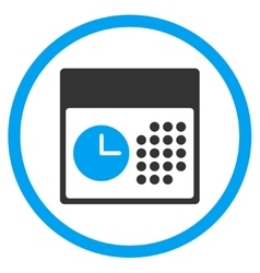 Time And Date Rounded Icon vector image