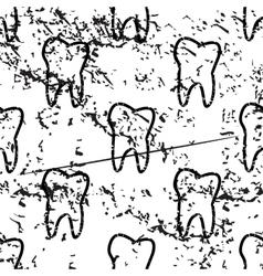 Tooth pattern grunge monochrome vector