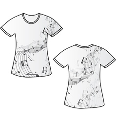 Tshirt music vector image