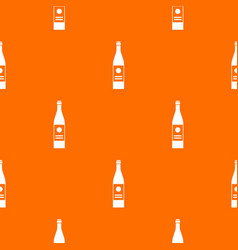 wine bottle pattern seamless vector image vector image