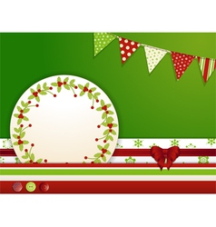 Christmas background with buttons and bunting vector