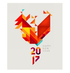 Geometric red rooster vector