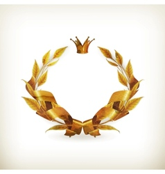 Wreath gold old-style vector