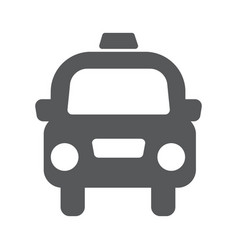 Taxi cab icon vector
