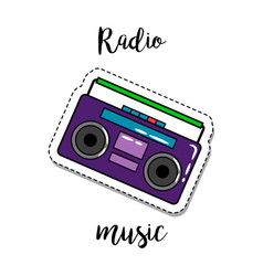 Fashion patch element radio vector