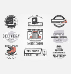 Delivery service cargo transportation and vector