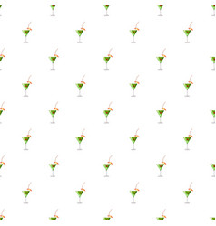 Martini glass of cocktail pattern vector