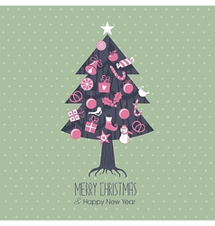 Assorted Christmas Tree vector image