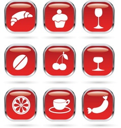 Food drink metal glass vector