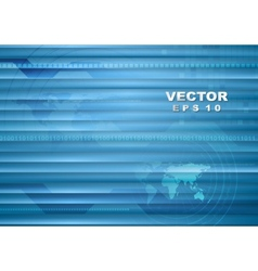 Abstract blue striped tech background vector image