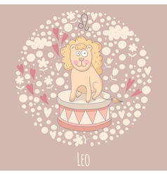 Cartoon of the lion Leo vector image