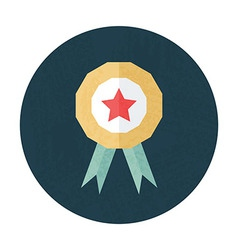 Award pencil texture stylized circle icon vector
