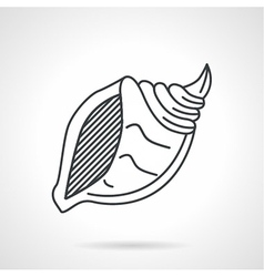 Black line icon for sea shell vector