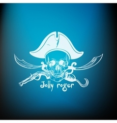 Label pirate theme vector