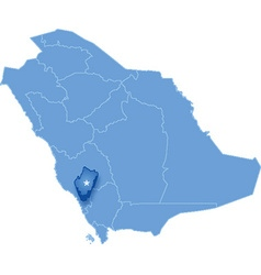 Saudi arabia the region al bahah vector