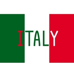 Italian flag and word italy vector