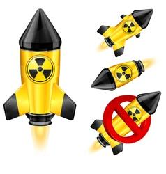 nuclear retro rocket vector image