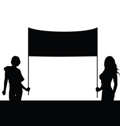 Girl set with board silhouette vector