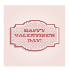 Valentines day card vector