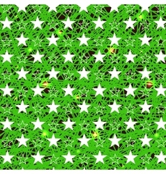 Starry grunge green background vector
