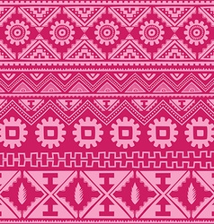Bright pink native american ethnic pattern vector