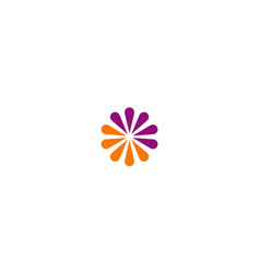 Abstract flower colored logo vector