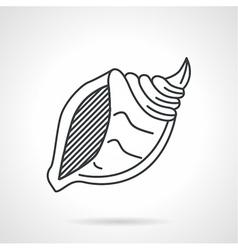 Black line icon for sea shell vector image