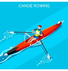 Canoe Rowing Single 2016 Summer Games 3D vector image