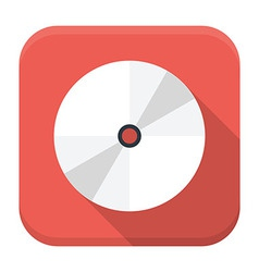 Cd disc flat app icon with long shadow vector