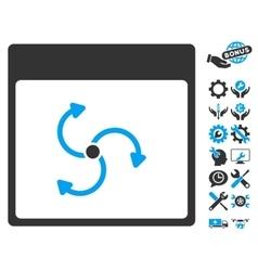 Cyclone calendar page icon with bonus vector