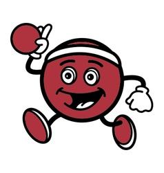 Dodgeball mascot vector
