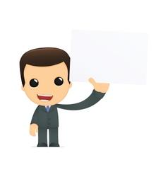 funny cartoon boss vector image vector image