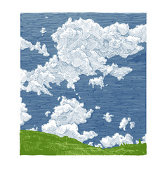 hand drawn of sky vector image vector image