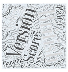 History of dancing with the stars word cloud vector