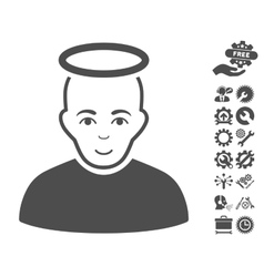 Holy Man Icon With Tools Bonus vector image vector image