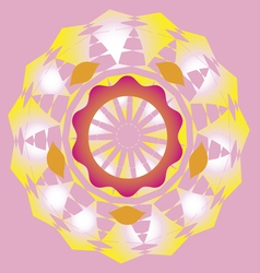 lotus sun poster vector image