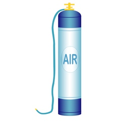 Oxygen cylinder vector image vector image