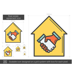 Real estate agreement line icon vector