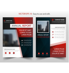 red black abstract annual report brochure design vector image