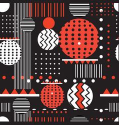 Seamless geometric graphic pattern vector