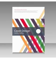 Straight lines abstract brochure template vector image