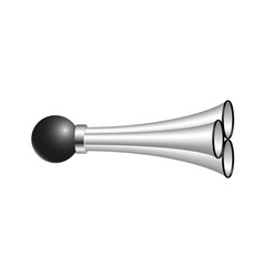 triple air horn in silver design vector image vector image