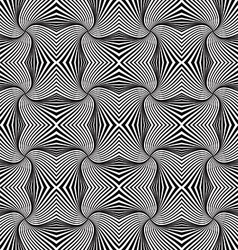 Twisted and zig zag abstract lines seamless vector image vector image