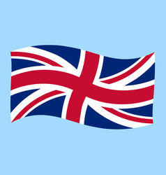 Uk - union jack - flag flying vector