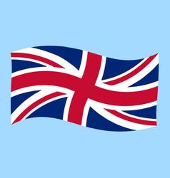 uk - union jack - flag flying vector image