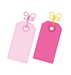 Valentine tags vector image