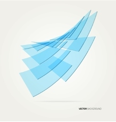 Wave rectangles vector
