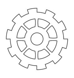 Single gear icon vector