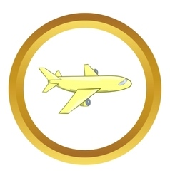 Passenger airplane icon vector image